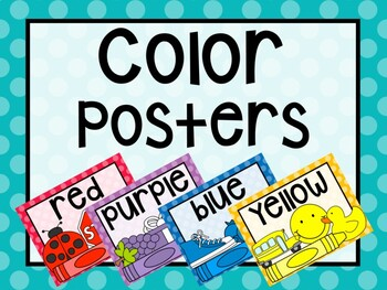Polka Dot Classroom Color Posters
