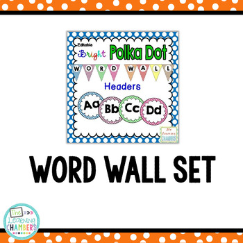 Polka Dot Classroom Decor Bundle