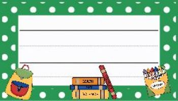 Polka Dot Classroom Decor: Green