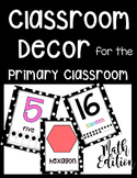 Polka Dot Classroom Decor for the Primary Classroom: Numbe