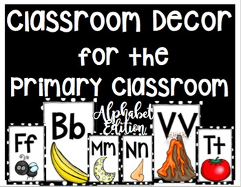 Polka Dot Classroom Decor for the Primary Classroom: Alphabet