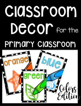 Polka Dot Classroom Decor for the Primary Classroom: Colors