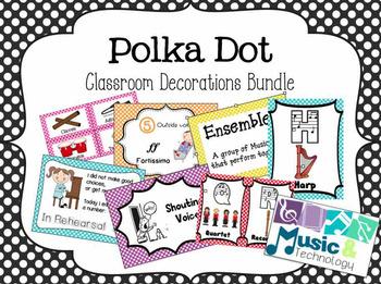 Polka Dot Classroom Decorations Bundle