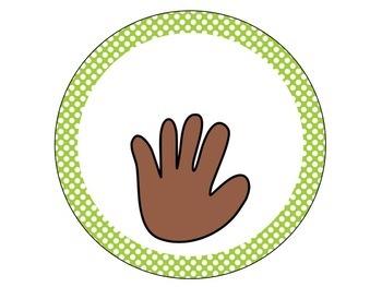 Polka Dot Classroom Hands {Editable}