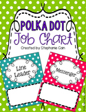 Polka Dot Classroom Job Chart (Editable)