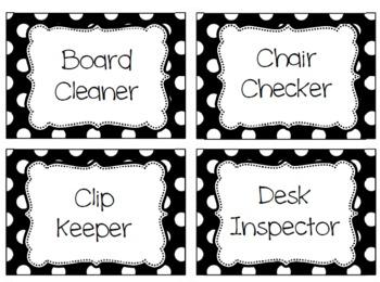 Polka Dot Classroom Job Duties
