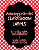 Polka Dot Classroom Labels - Primary