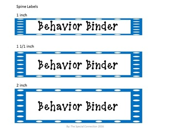 Polka Dot Classroom Labels and Binder Covers - Blue