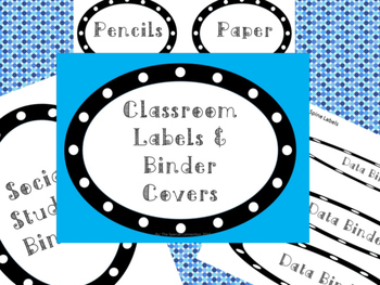 Polka Dot Classroom Labels and Binder Covers Bundle
