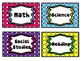 Polka Dot Classroom Labels and Decor Pack