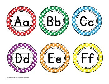 Polka Dot Classroom Labels and Signs-Classroom Decor