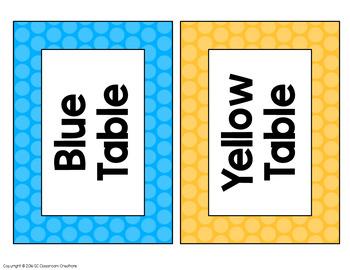 Polka Dot Classroom Labels and Signs (Rainbow Big Dots)-Classroom Decor