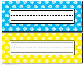 Polka Dot Classroom Labels and Signs (Scribble Dot)-Classroom Decor