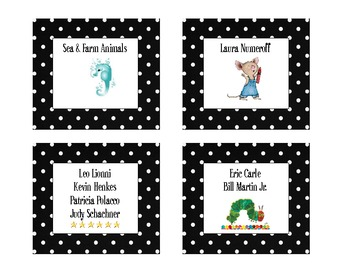 Polka Dot Classroom Library Book Labels