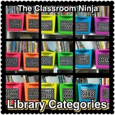 Polka Dot Classroom Library Genre and Level Labels