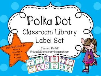 Polka Dot Classroom Library Label Set