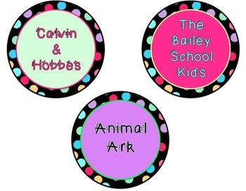 Polka Dot Classroom Library Labels