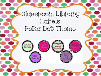 Polka Dot Classroom Library Labels