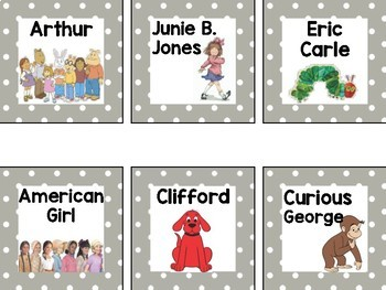 Polka Dot Classroom Library Labels {Characters, Authors, Subjects, & Themes}