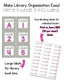 Polka Dot Classroom Library Labels: DRA EDITION! {Levels A - 70}