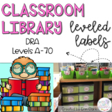Classroom Library Labels: DRA EDITION! {Levels A - 70}
