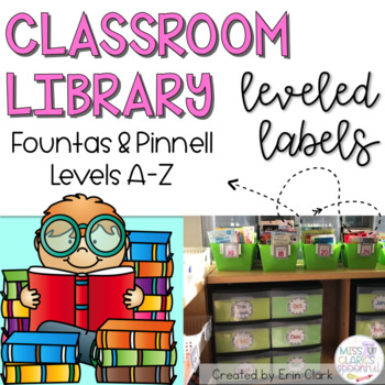 Polka Dot Classroom Library Labels: FOUNTAS & PINNELL EDITION! {Levels A - Z}