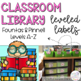 Classroom Library Labels: FOUNTAS & PINNELL EDITION! {Levels A - Z}