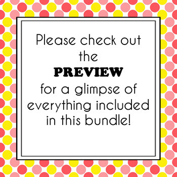 Classroom Management Bundle {Polka Dot}