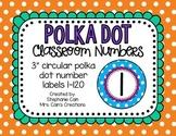 Polka Dot Classroom Numbers 0-120