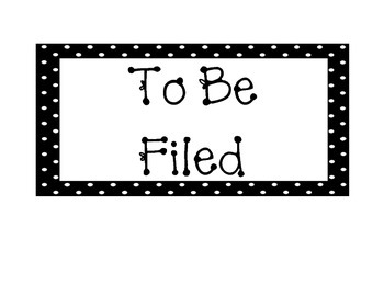 Polka Dot Classroom Organization