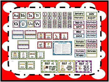 Polka Dot Classroom Pack {Posters and Labels}
