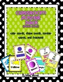 Polka Dot Classroom Poster Pack- Colors, numbers, shapes, and fractions!
