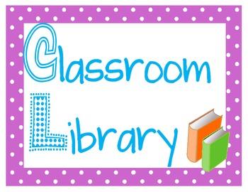 Polka Dot Classroom Posters