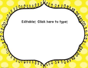 Polka Dot Classroom Rule Posters (Editable)
