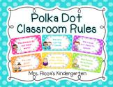 Polka Dot Classroom Rules (Editable)