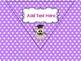 Polka Dot Classroom Rules (Pennant Banner) Editable & Owl Themed