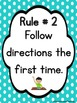 Polka Dot Classroom Rules Posters