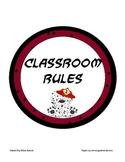 Polka Dot Classroom Rules (w/ Dalmatian Fire Dog)