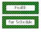 Polka Dot Classroom Schedule