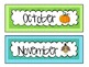 Polka Dot Classroom Signs and Labels