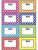 Polka Dot Classroom Supply Labels-Classroom Decor