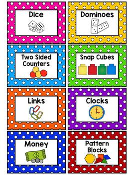 Polka Dot Classroom Supply Labels (Primary Dots)-Classroom Decor