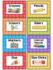 Polka Dot Classroom Supply Labels (Rainbow Big Dots)