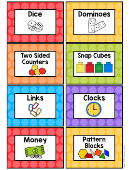 Polka Dot Supply Labels (Rainbow Big Dots)-Classroom Decor