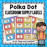 Polka Dot Supply Labels (Rainbow Big Dots)-Classroom Decor