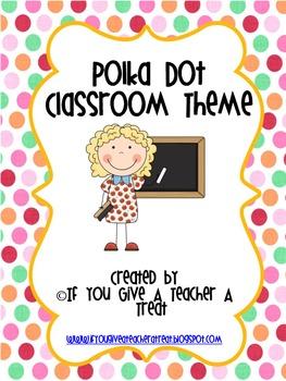 Polka Dot Classroom Theme Bundle