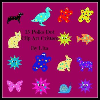 Polka Dot Clip Art Critters