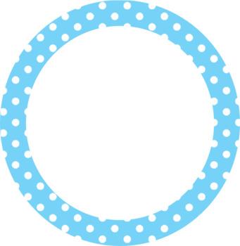 Polka Dot Clip Art - Polka Dots - Circle, Rectangles, Stars