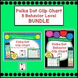 Polka Dot Clip Chart & Calendars BUNDLE - 5 Behavior Levels Edition