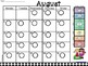 Polka Dot Clip Chart  Home-School Behavior Calendars 2018-2019 6 Level Ed.